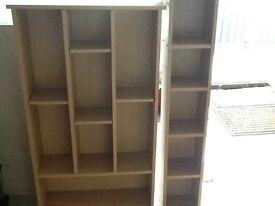 Shelf units.