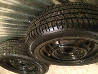 """15"""" 5x114.3 steel wheels with like new tires!"""