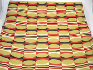Funky 60's Style Fabric 54x58 inches Sandy Hill