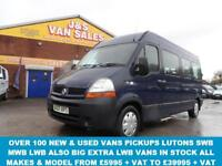 2007 07 RENAULT MASTER 2.5 LM35 DCI LWB SHR 1D 120 BHP 15 SEATER + WHEEL CHAIR L