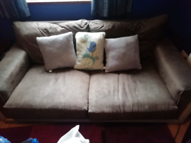 Good condition brown sofa