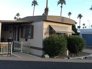 Trailer home to rent in Arizona park resort