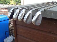 Titleist vokey wedges & Dunlop hybrid irons