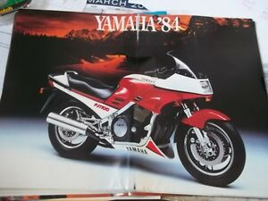 Mint 1984 YAMAHA MOTORCYCLE BROCHURE    colector vintage