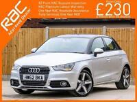 2012 Audi A1 1.4 TFSI Sport 5 Door Sportback 6 Speed Bluetooth Parking Sensors A