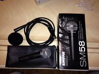 Shure mic SM58 with Switch