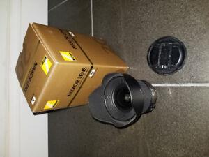 Lentille Nikon 20 mm f:1.8 G AF-S avec filtre ND1000