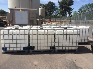 New shipment 1000 LT water totes Wooden skid style London Ontario image 6