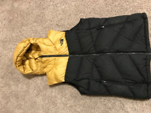 The North Face Gold Puffy Hooded Vest Women's L