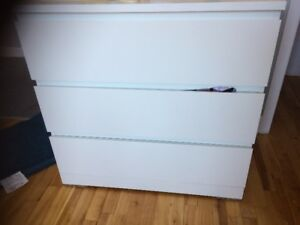 MALM 3-drawer chest, white