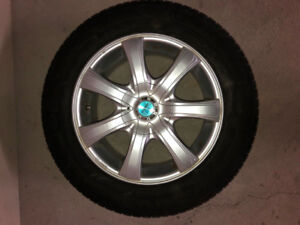 4 rims  (Honda/Acura) with winter tires and lug nuts