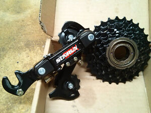 BRAND-NEW DERAILLEUR AND SPROCKET $20!!