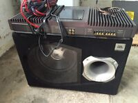 Sony Amplifier & Subwoofer Box complete with cables.