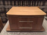 Bailey caravan front chest and pull out table