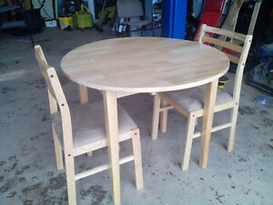 Brand New 3 Piece Solid Hardwood Table & Chairs