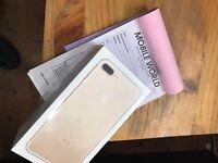 Iphone 7 plus 128gb Gold unlocked with apple waranty