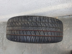 Spare 16 inch tire on a rim