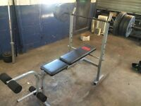 PRO POWER bench with dumbbells and 38 kg of weights