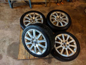 17 inch VW RONAL rims and low profile Goodyear Eagle Sport tires