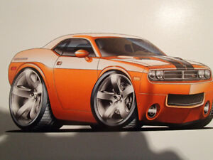 "2009 -17 Dodge Challenger R/T Wall Art Picture 11"" X 8.5"""
