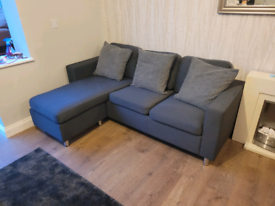 IKEA Vimle Medium Gray Fabric Three Seater Corner Sofa