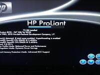HP Proliant ML350 G6 Server 2x Intel Xeon Quad Core 2.40Ghz CPU 72GB RAM 2x 146GB SAS HDD