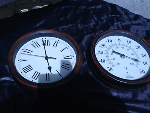 National Geographic Clock & Thermometer set 20$