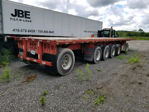 48 foot 6 Axel flatbed
