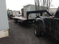 24 foot goose neck,  5th wheel float trailer
