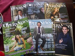 OPERA NEWS MONTHLY MAGAZINES 2008-2014 COMPLETE West Island Greater Montréal image 2