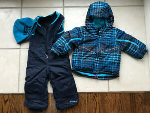 Toddler Boys 2T Columbia snowsuit - jacket, snow pants and hat