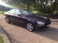 MERCEDES S320 DIESEL 2001 AUTOMATIC. SAT NAV. LEATHER. 1 YEARS MOT. FULLY LOADED