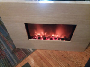 Yosemite Home Decor DF-EFP800 Wall Mount Electric Fireplace Heat