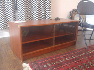 $40 ONLY SHELVING UNIT WITH GLASS DOOR