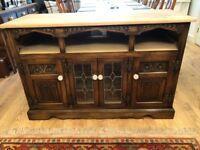 Old charm solid oak tv / sideboard