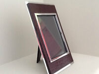 **BURGUNDY FAUX LEATHER PICTURE FRAME** MUST GO!!!