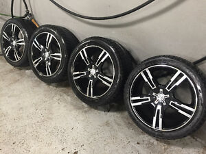 4 Alloy Rims on Winter Tires - Fits Hyundai Genesis