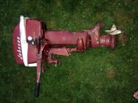 1957 10hp 2 stroke Johnson outboard