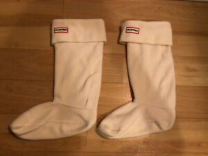 HUNTER fleece insert socks size medium