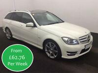 £269.87 PER MONTH MERCEDES C220 2.1CDI Sport Edition 125 7G-Tronic Estate AUTO