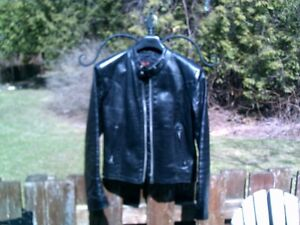 """Bristol(tm) Motorcycle Jacket [black] Made in CANADA / Size 34"""""""