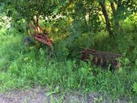 Antique plow and disc