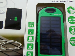 New solar powered power bank / charger      recycledgear.ca