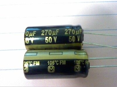 270uf 50v Panasonic Fm 10mm X 20mm 105c Mbd Lcd Lcd Tv Ps Capacitor