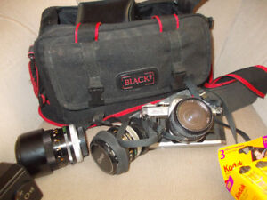 Canon AE-1 Camera - case & lens