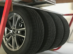 4- Pirelli snow tires on Moda aluminum wheels
