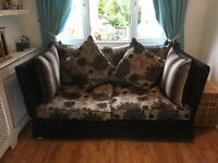 Two sofas and wing back chair