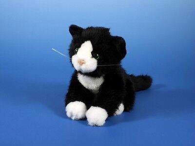 KATZE schwarz/weiß Kätzchen Plüschtier Stofftier Plüsch-Kuscheltier 18cm NEU