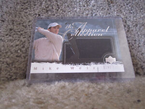 Mike Weir Golf Card-Upper Deck-Renditions Apparel Collection