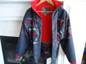 Boys fleece lined jacket size 14